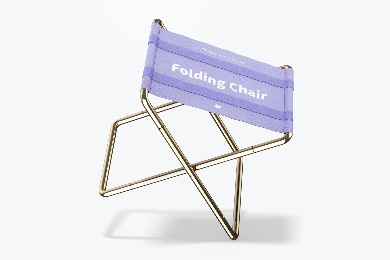 Folding Chair Mockup, Leaned
