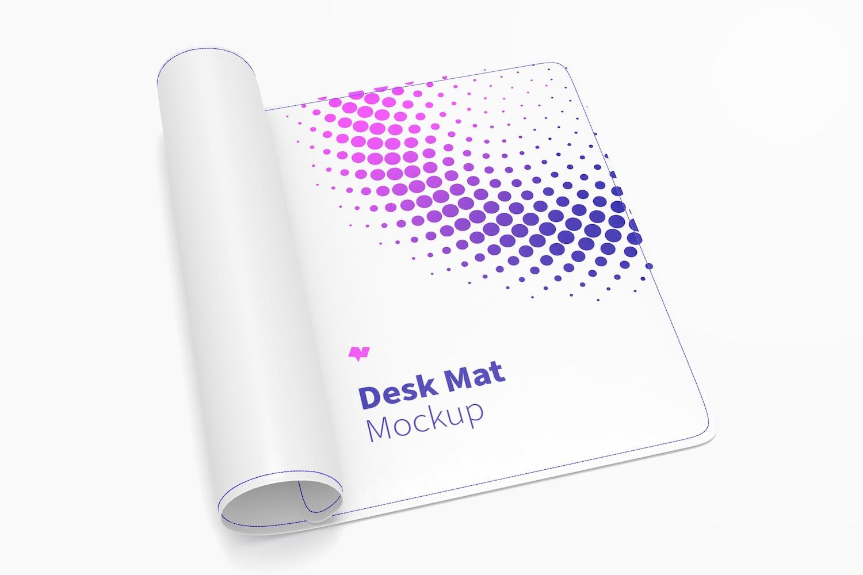 Desk Mat Mockup, Rolled-Up