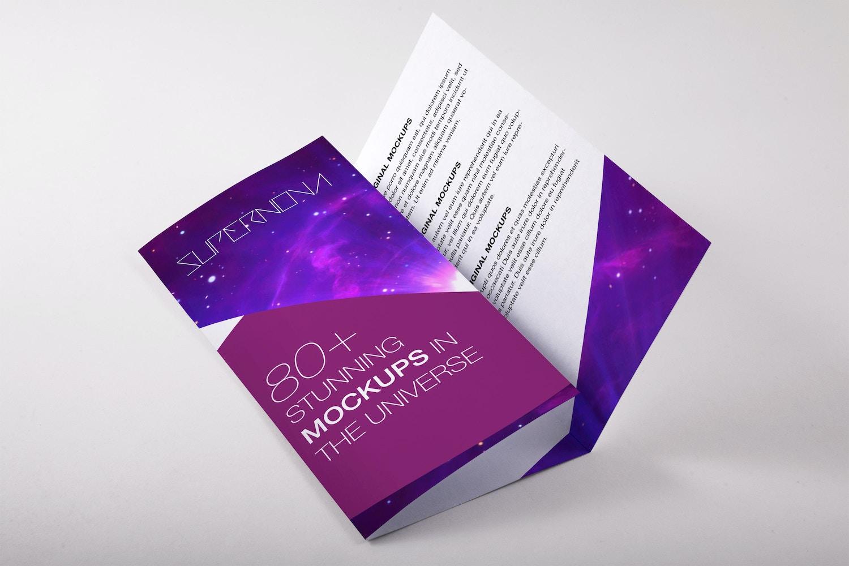 A4 Trifold Brochure PSD Mockup 02