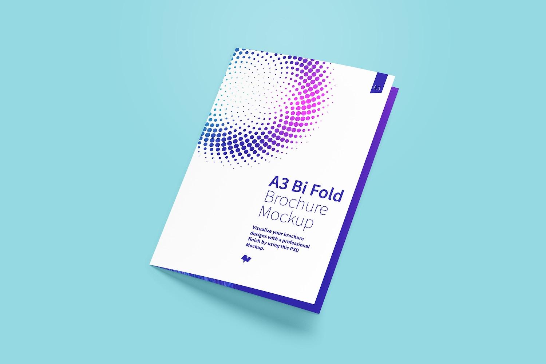 A3 Bi Fold Brochure Mockup 01 (4) by Original Mockups on Original Mockups