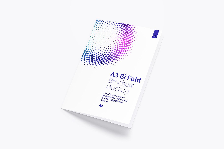 A3 Bi Fold Brochure Mockup 01