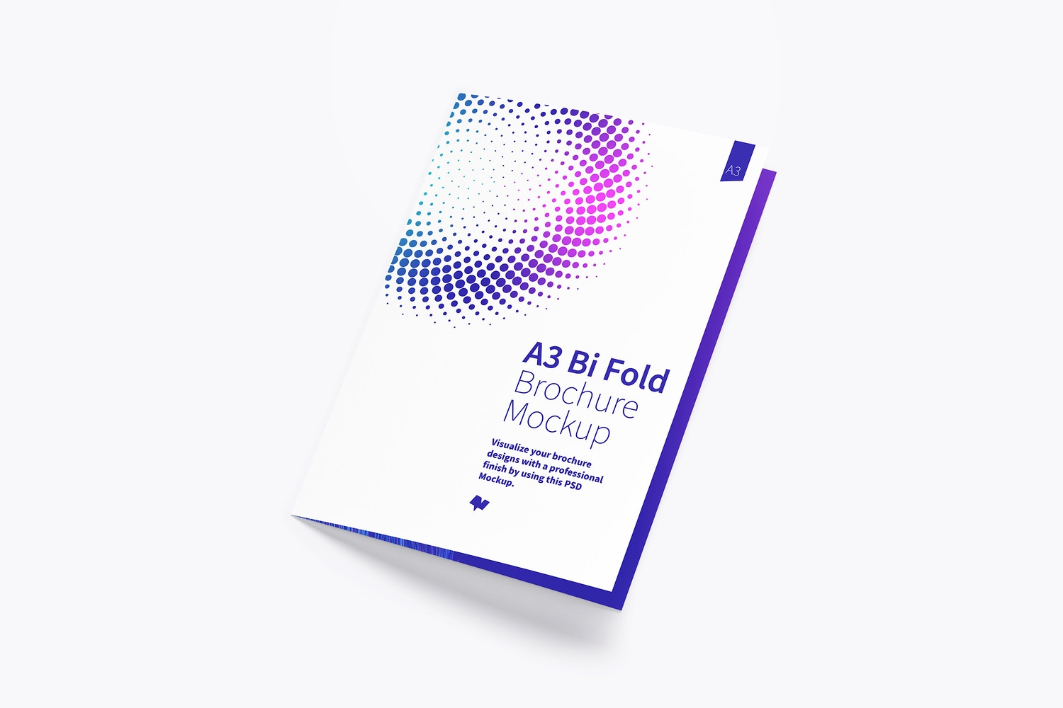 A3 Bi Fold Brochure Mockup 01 by Original Mockups on Original Mockups