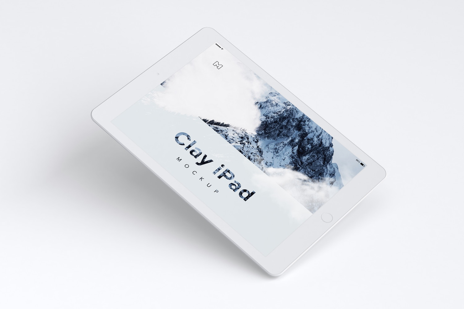 Clay iPad 9.7 Mockup 01 by Original Mockups on Original Mockups