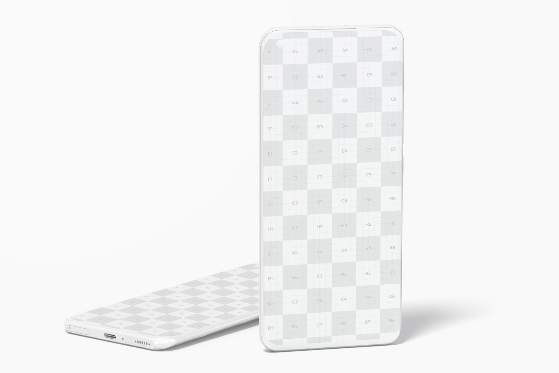 Clay Xiaomi Smartphones Mockup