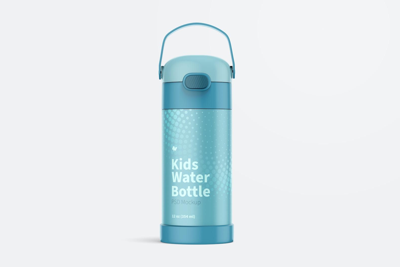 12 oz Kids Water Bottle Mockup