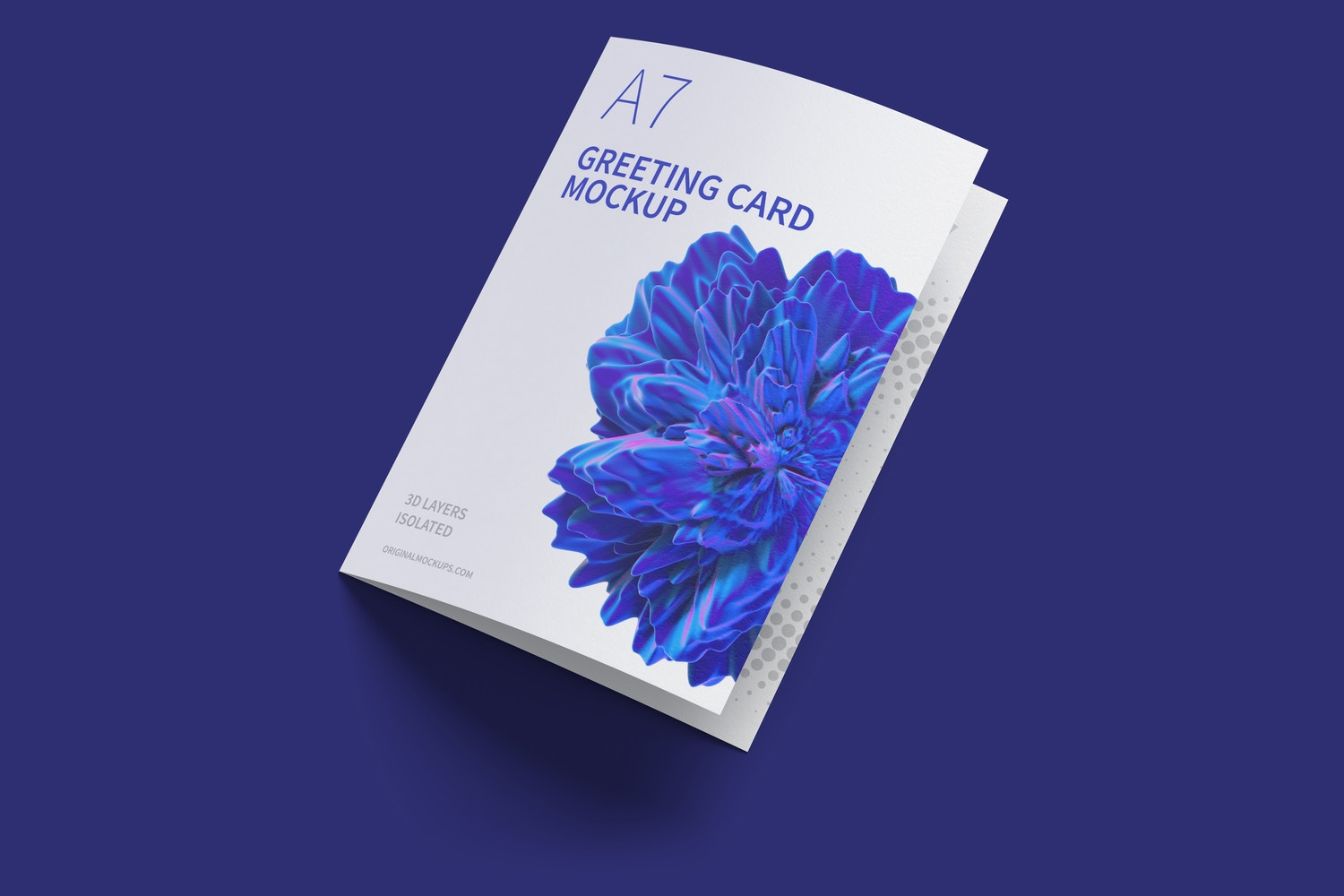 A7 Greeting Card Mockup, Closed, Left View