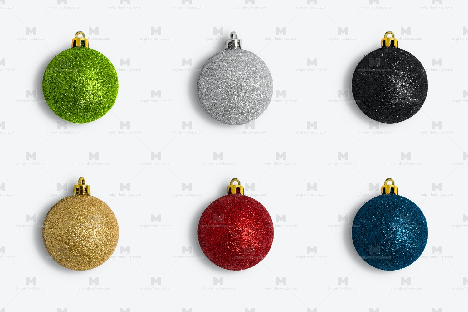 Christmas Colorful Ornaments Frosty Isolate por Original Mockups en Original Mockups