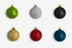 Christmas Colorful Ornaments Frosty Isolate