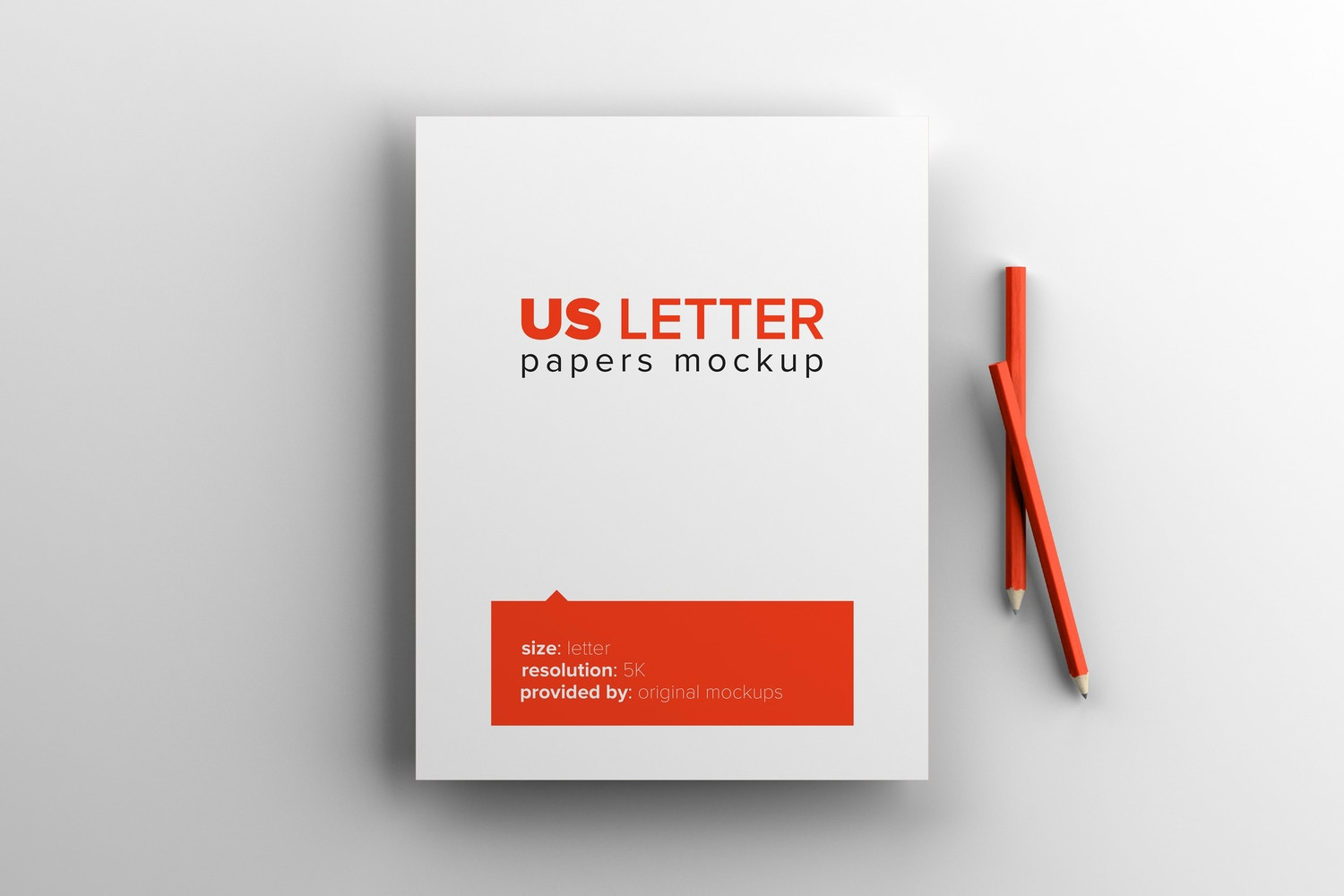 US Letter Paper Mockup by Original Mockups on Original Mockups