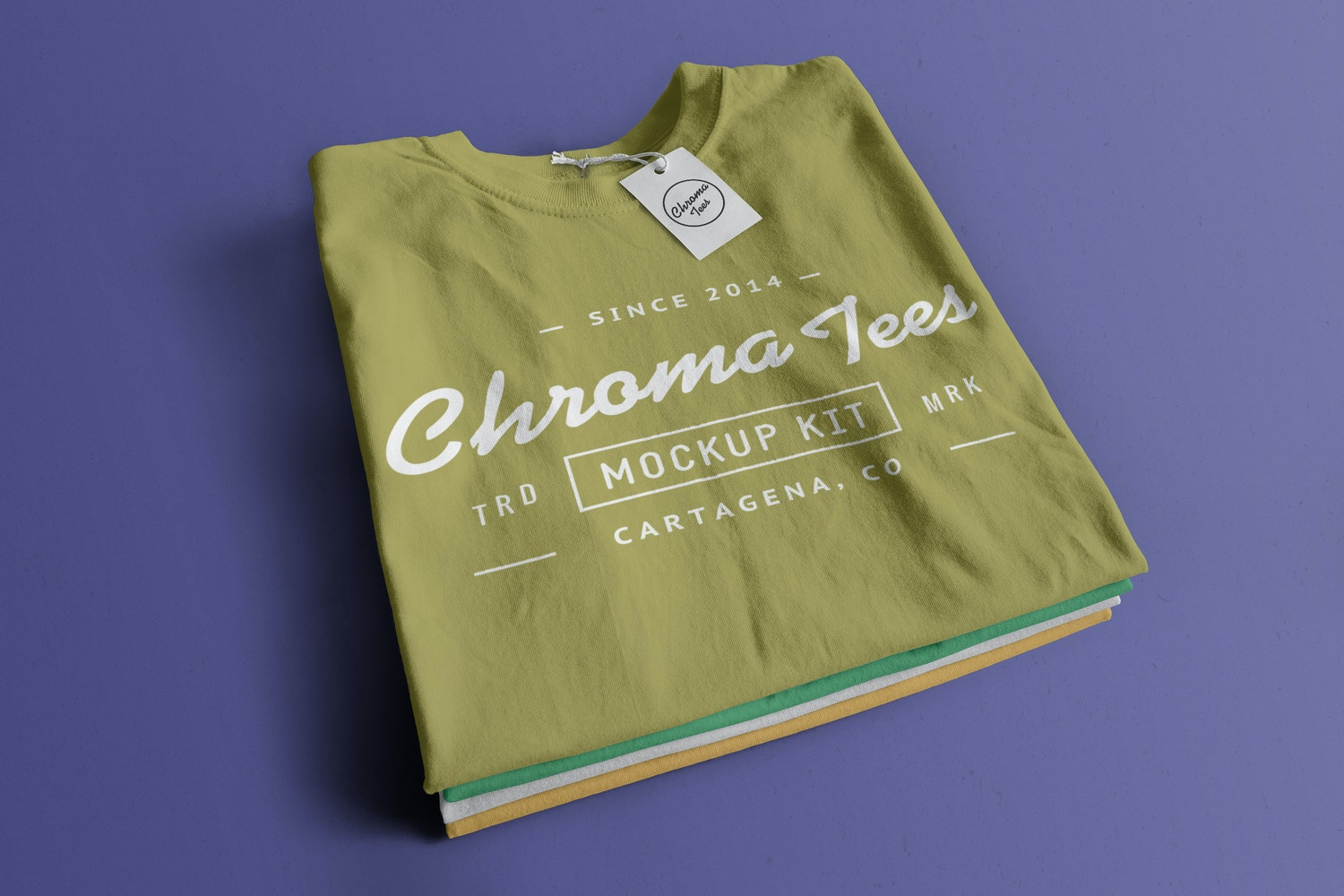 Stack of Folded T-Shirts Mockup 01 by Antonio Padilla on Original Mockups