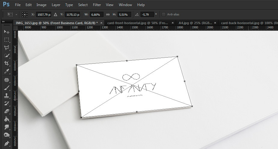 Create an a4 letterhead and business card mockup using lightroom and step 11 transforming smart objects reheart Image collections