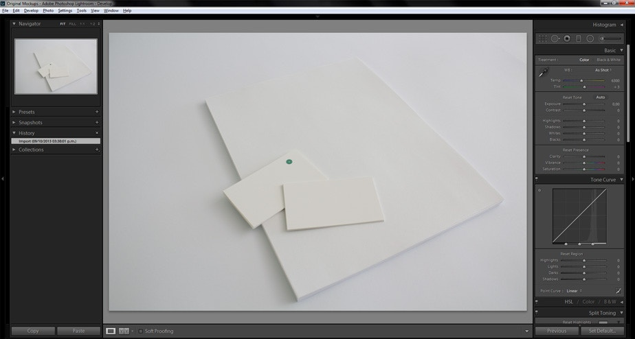 Create an a4 letterhead and business card mockup using lightroom and step 1 prepare the image in lightroom reheart Images