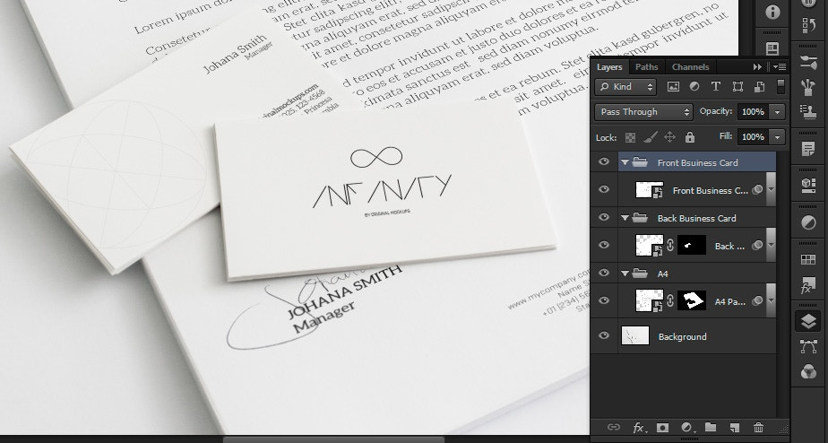 how to create a letterhead in photoshop
