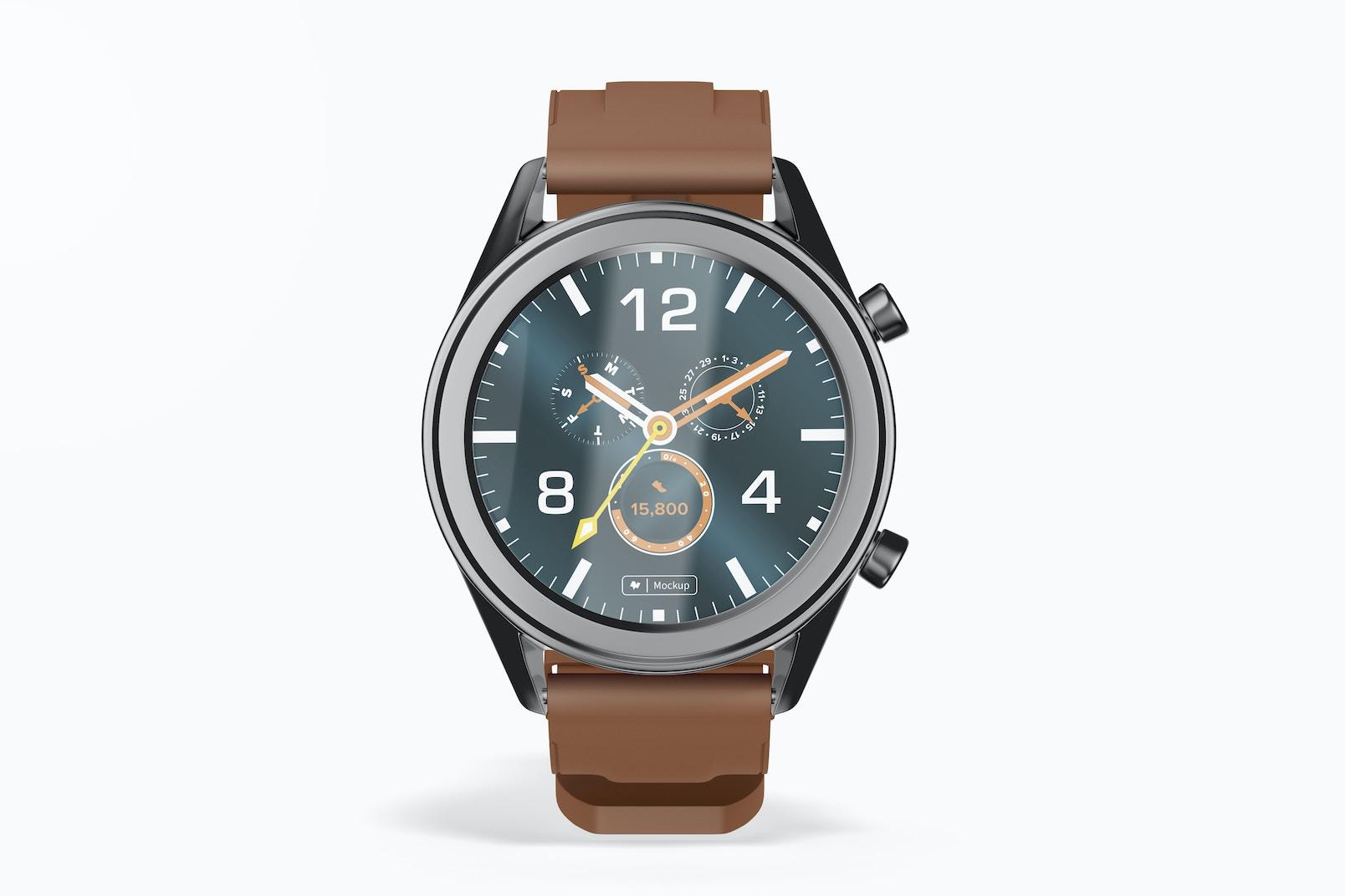 Huawei Watch GT Smartwatch Mockup, Front View