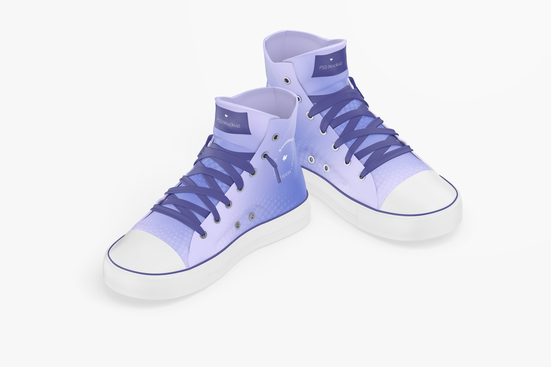 Sneakers Mockup, Isometric View