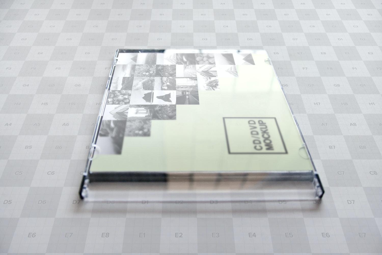 CD-DVD Jewel Case Closed Mockup 01 - Custom Background