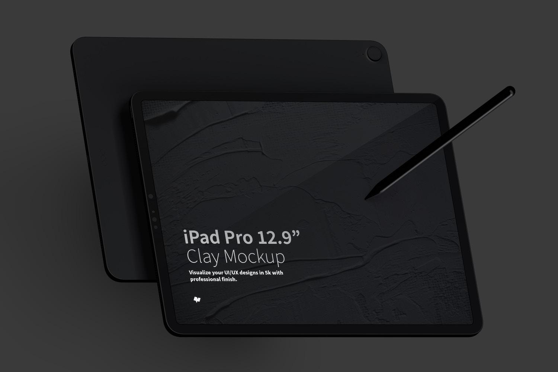 Maqueta de iPad Pro 12.9 Multicolor, Vista Frontal y Trasera Horizontal (5) por Original Mockups en Original Mockups