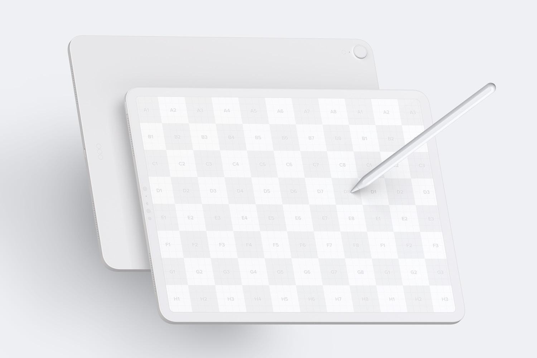 Maqueta de iPad Pro 12.9 Multicolor, Vista Frontal y Trasera Horizontal (2) por Original Mockups en Original Mockups