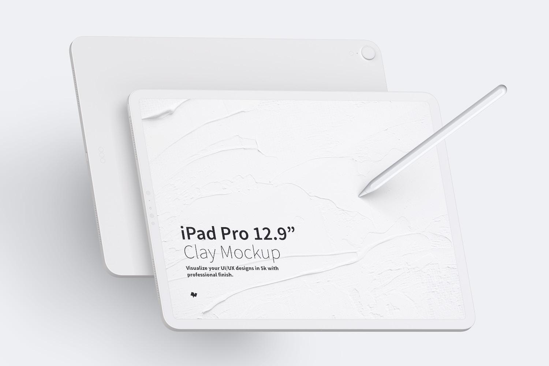 Maqueta de iPad Pro 12.9 Multicolor, Vista Frontal y Trasera Horizontal (1) por Original Mockups en Original Mockups