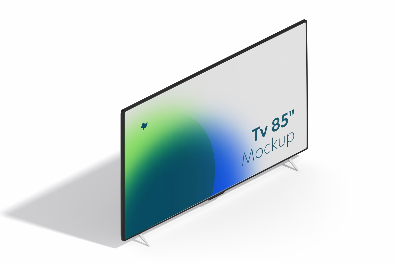 """TV 85"""" Mockup, Right View"""