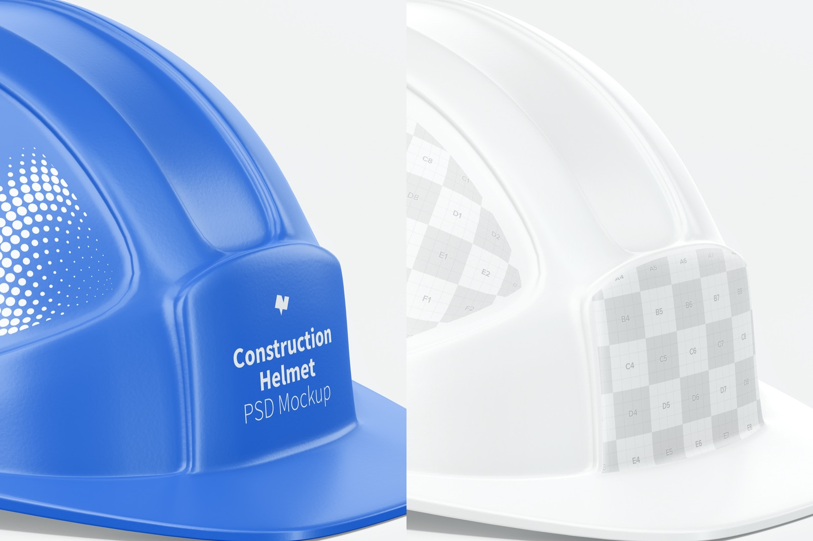 Construction Helmet Mockup, Close Up