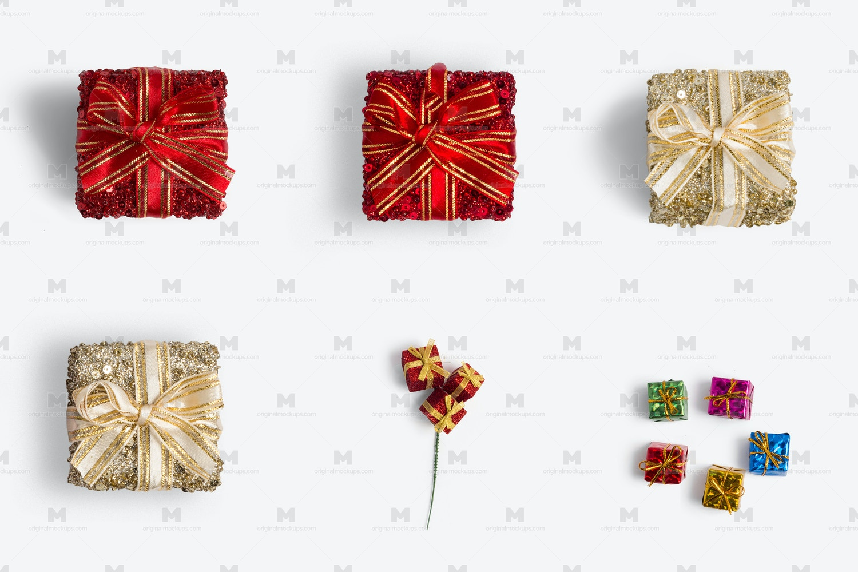 Christmas Gift Boxes Isolate 02 by Original Mockups on Original Mockups