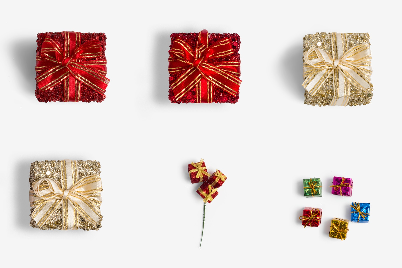 Christmas Gift Boxes Isolate 02