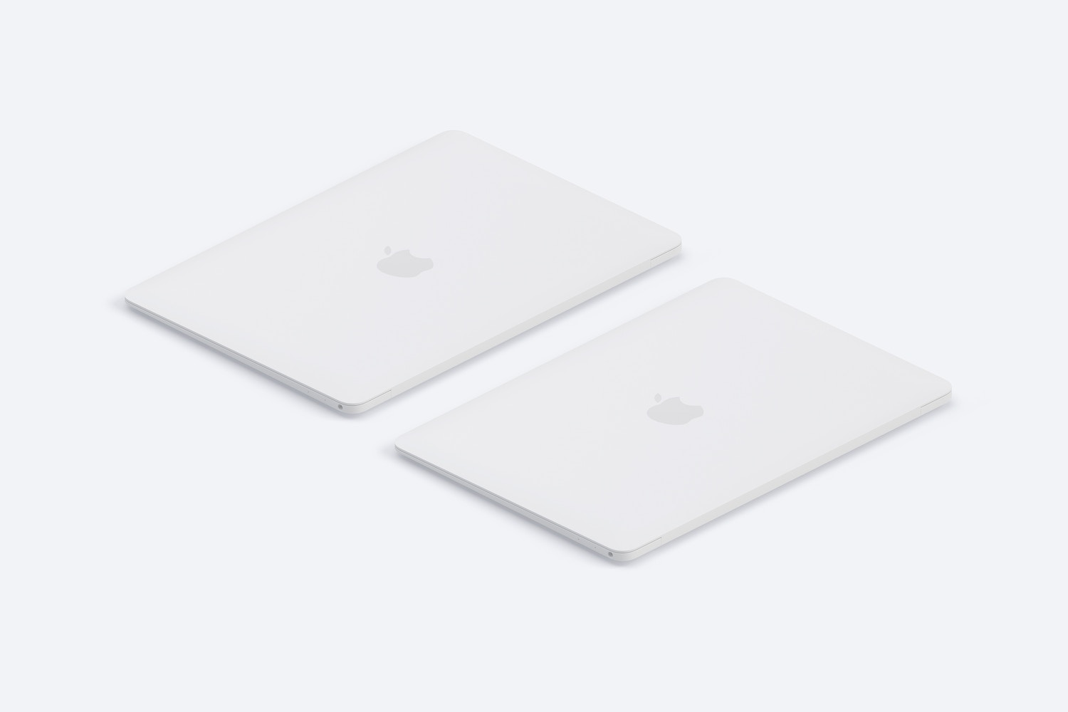Clay MacBook Mockup, Isometric Left View 03 (3) by Original Mockups on Original Mockups