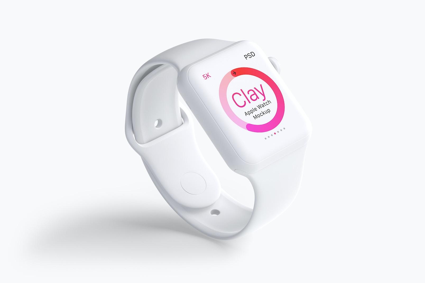 Clay Apple Watch Mockup 01