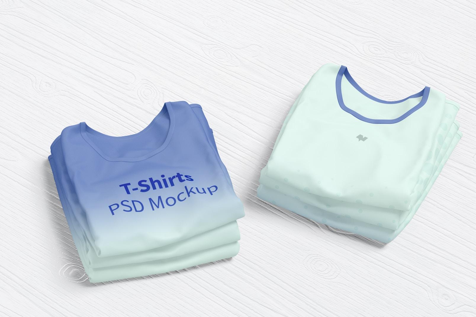 T-Shirts Mockup, Stacked
