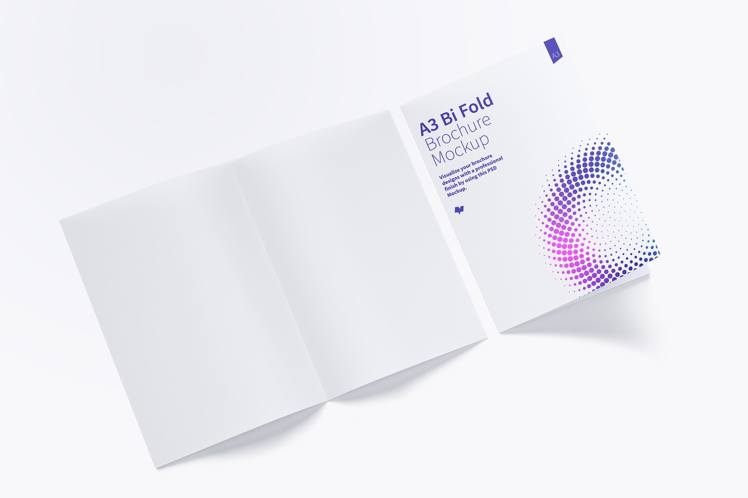 A3 Bi Fold Brochure Mockup 03 by Original Mockups on Original Mockups