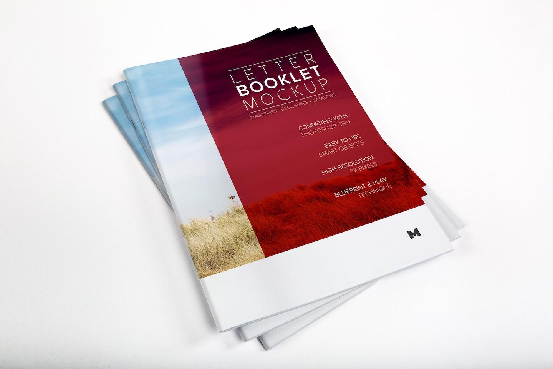 Letter Booklet Stack Cover Mockup 01