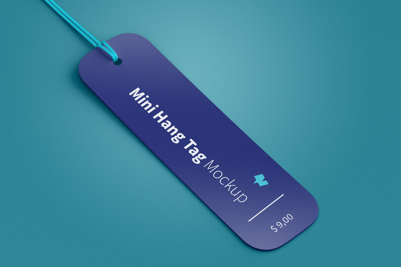 Mini Hang Tag Mockup with String 02
