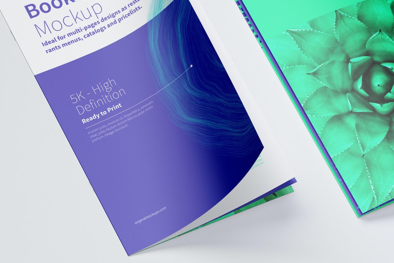 Thin Booklet Mockup 04 (3) by Original Mockups on Original Mockups