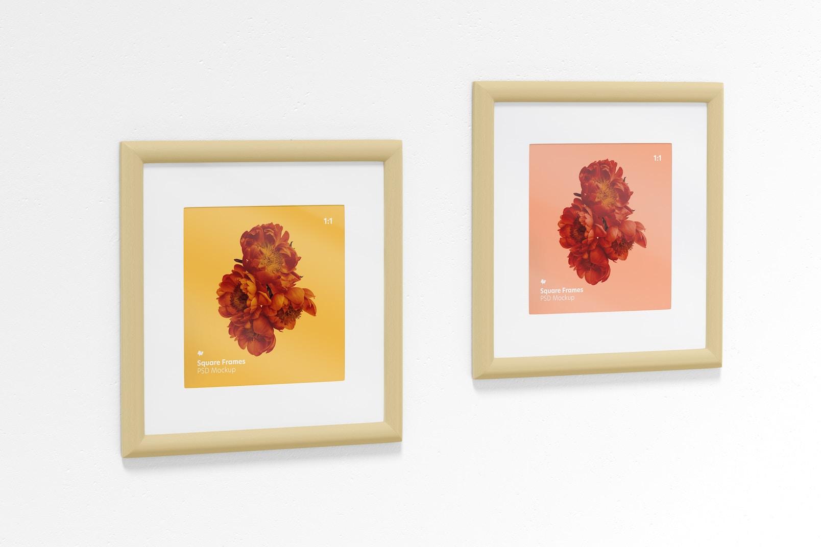 1:1 Square Frames Mockup, Left View