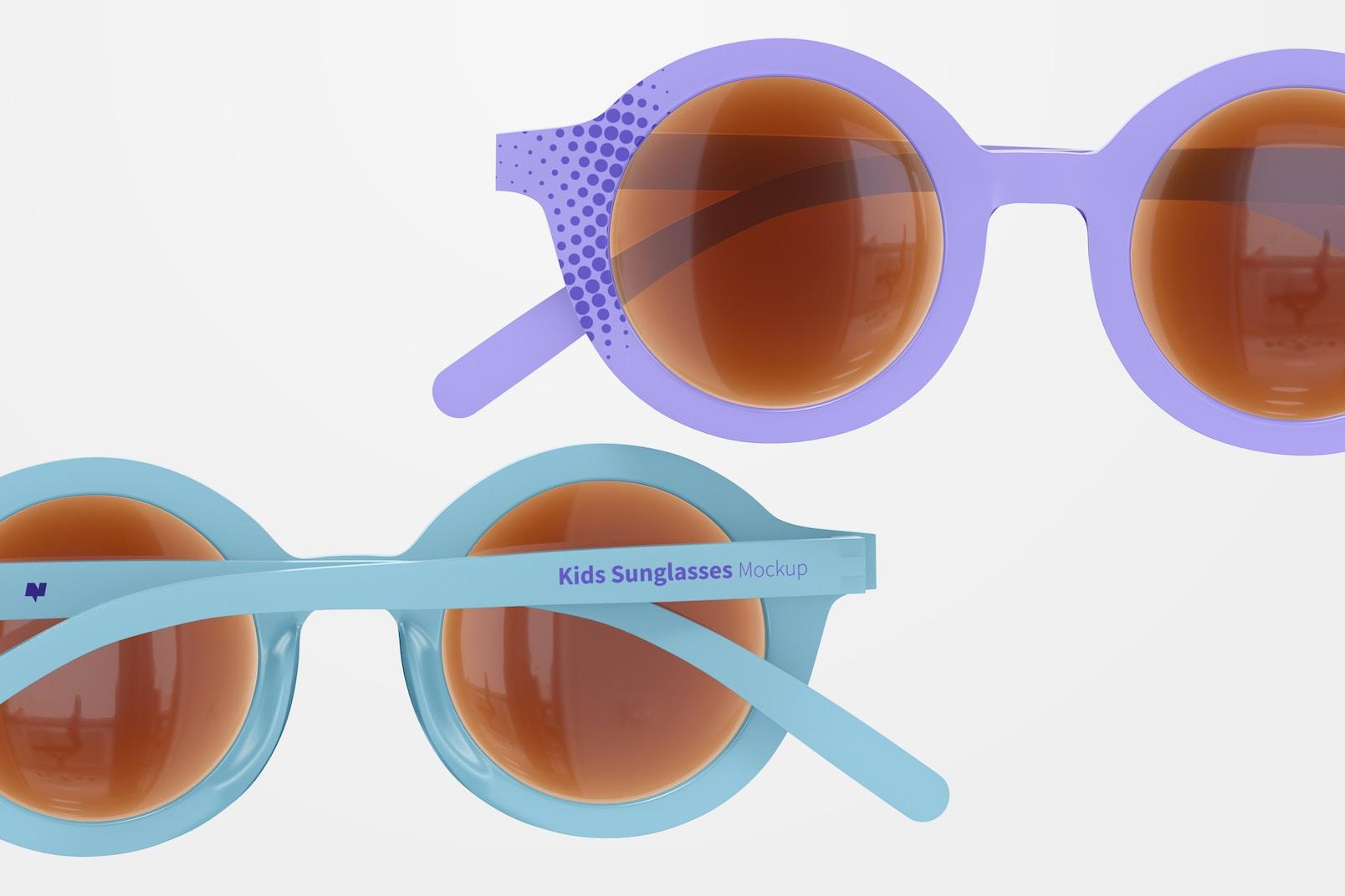 Kids Sunglasses Mockup, Close Up