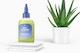Hair Oil Bottle Mockup with Aloe Plant