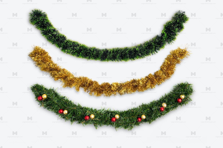 Christmas Garlands Isolate by Original Mockups on Original Mockups