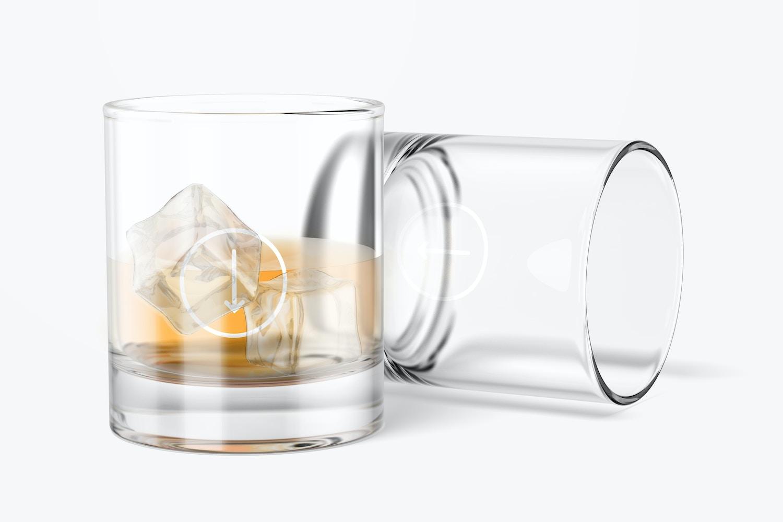 11 oz Whiskey Glass Cups Mockup
