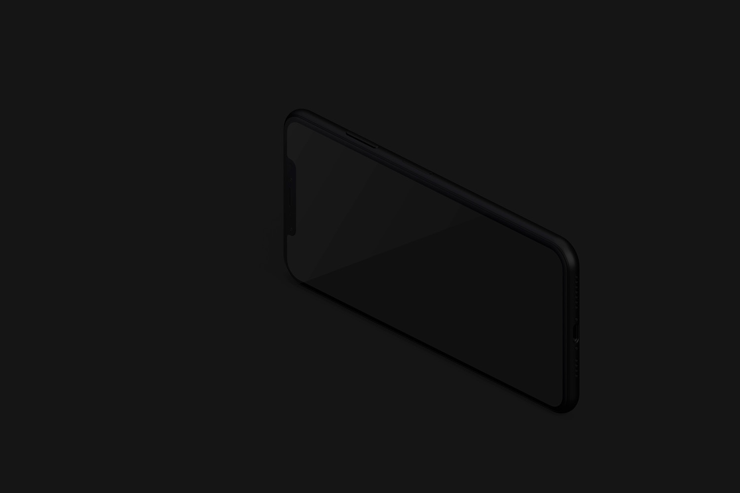 Isometric Clay iPhone XS Max Mockup, Right View 03 (3) by Original Mockups on Original Mockups