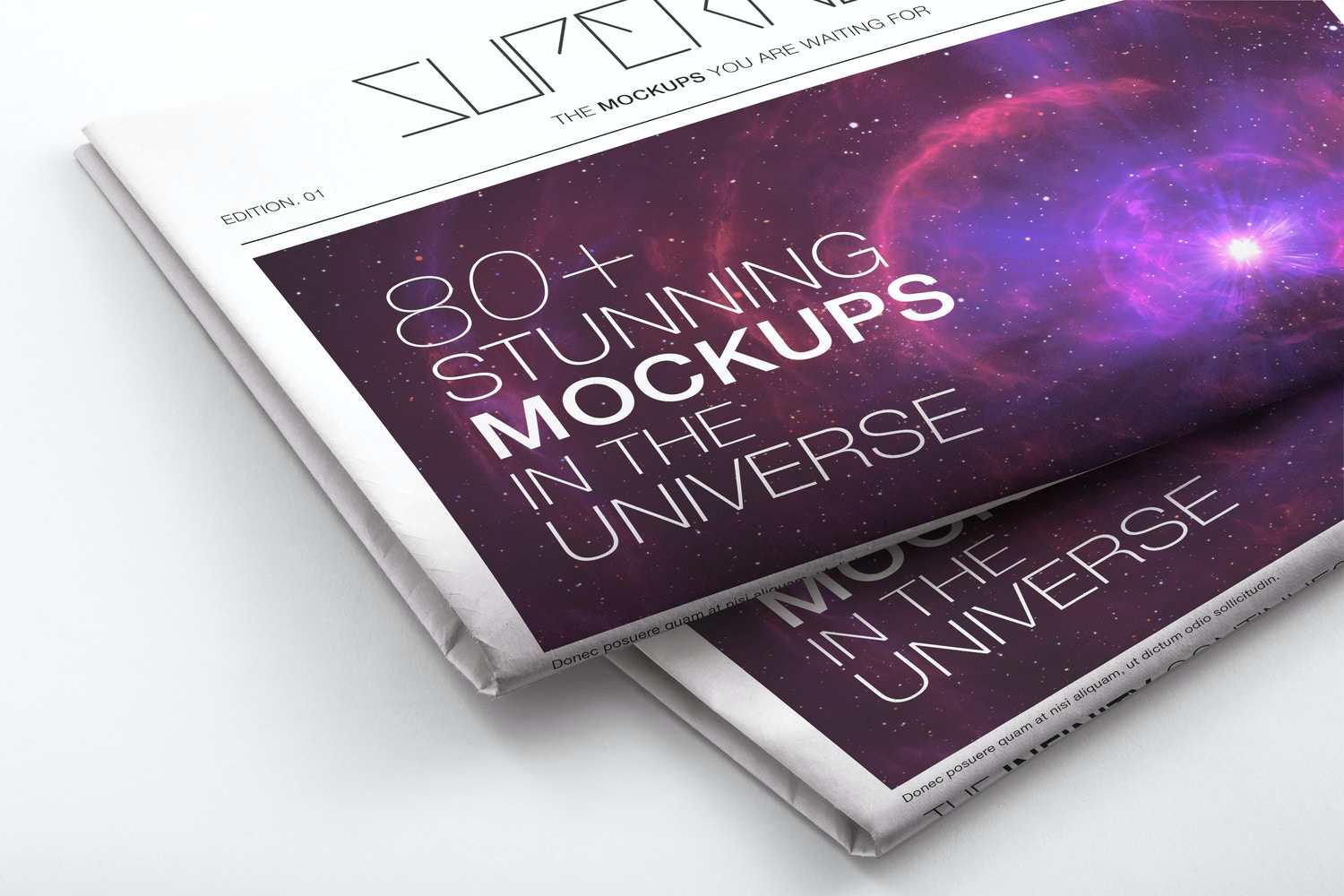 Newspaper PSD Mockup 02 by Original Mockups on Original Mockups