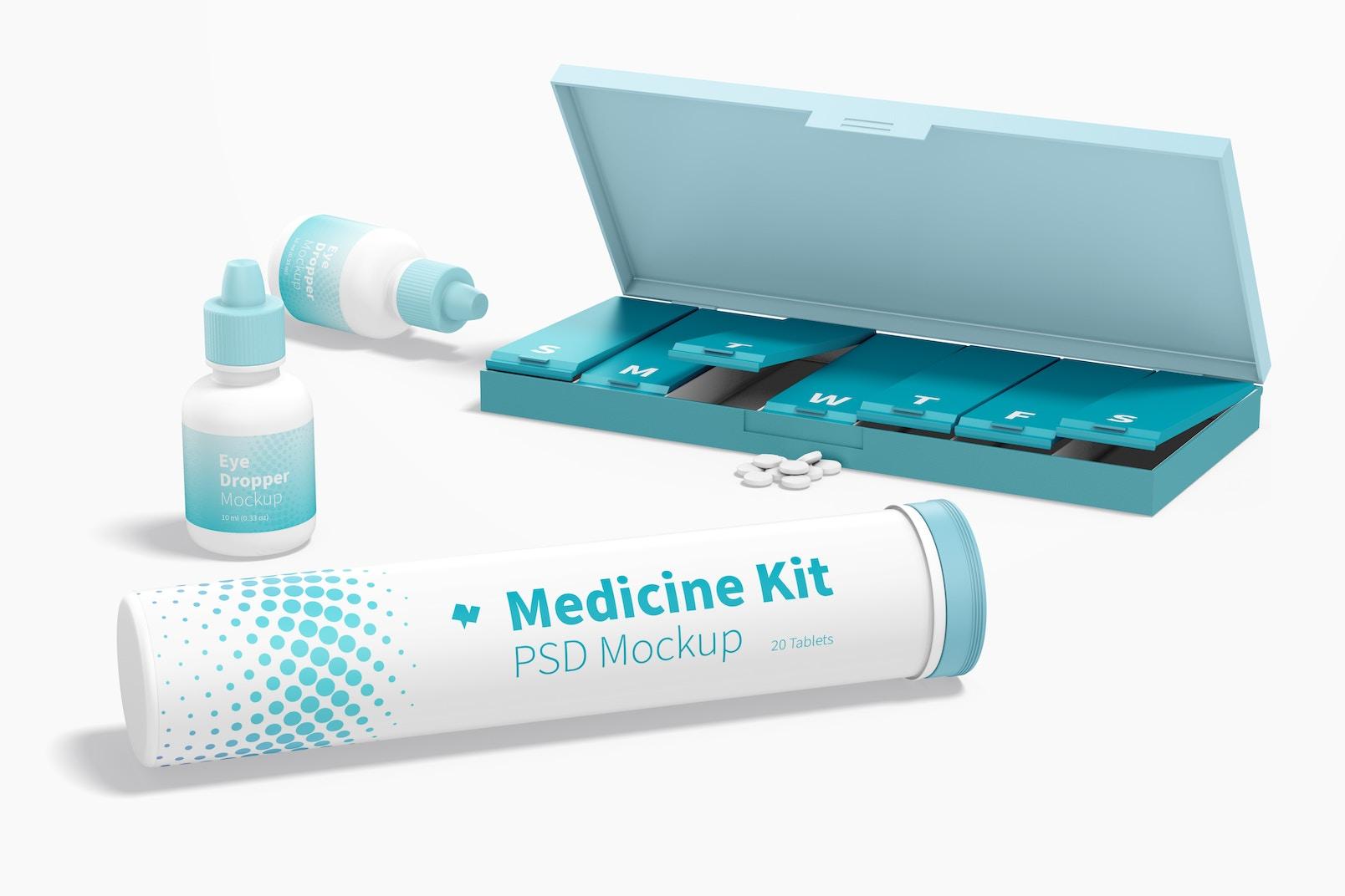 Maqueta de Kit de Medicinas, Perspectiva