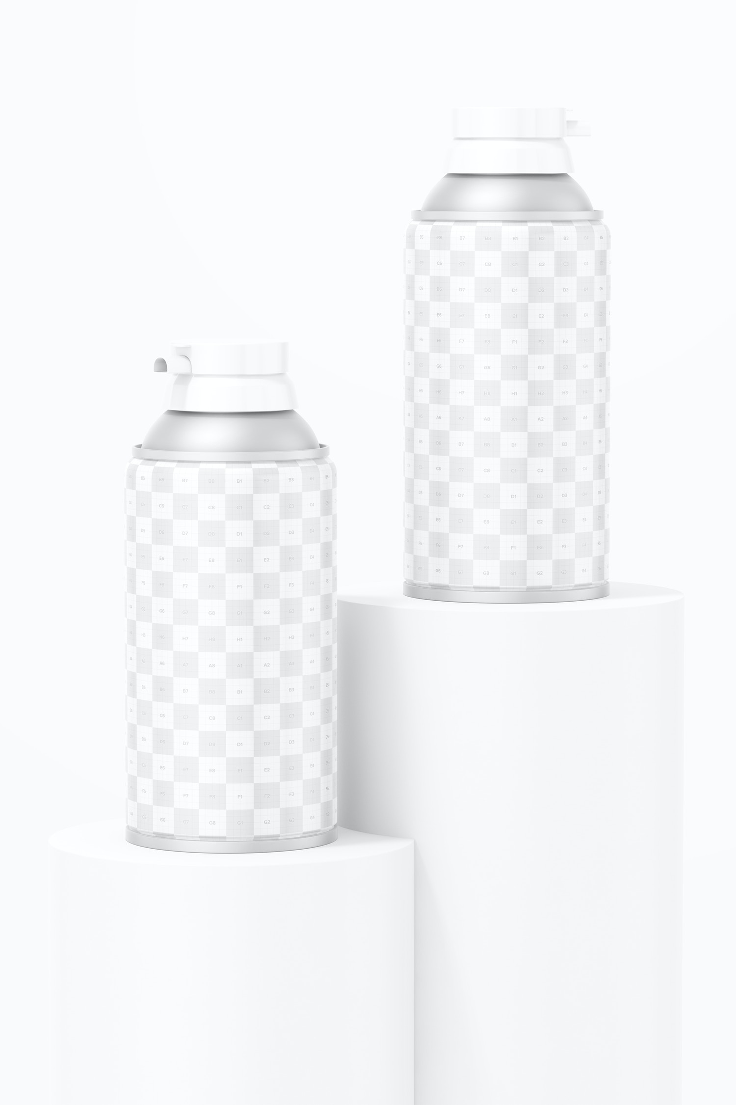 10.5 oz Foam Cans Mockup, on Surfaces