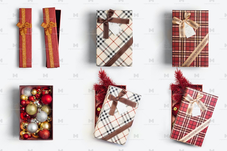 Christmas Gift Boxes Isolate 01 por Original Mockups en Original Mockups
