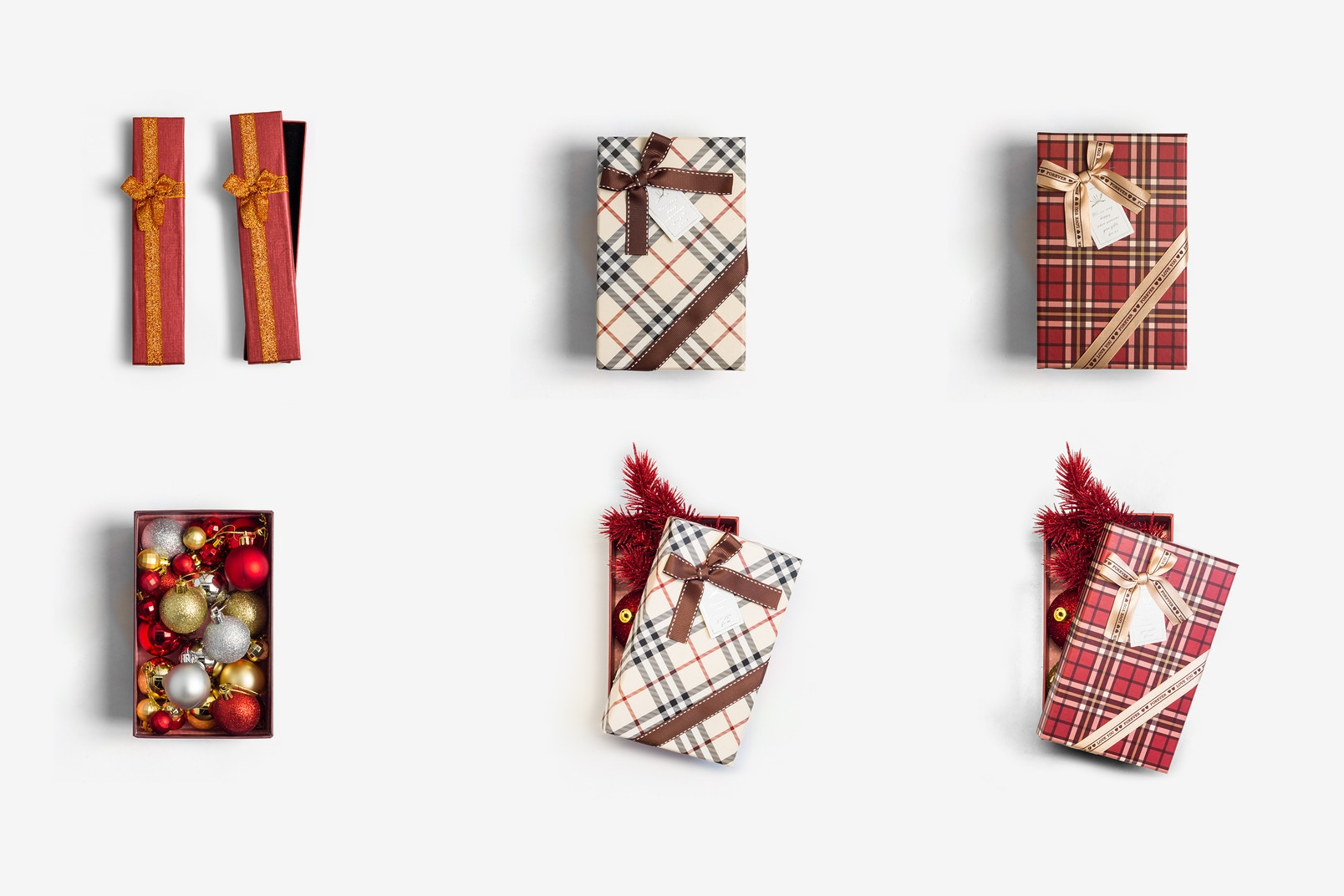 Christmas Gift Boxes Isolate 01