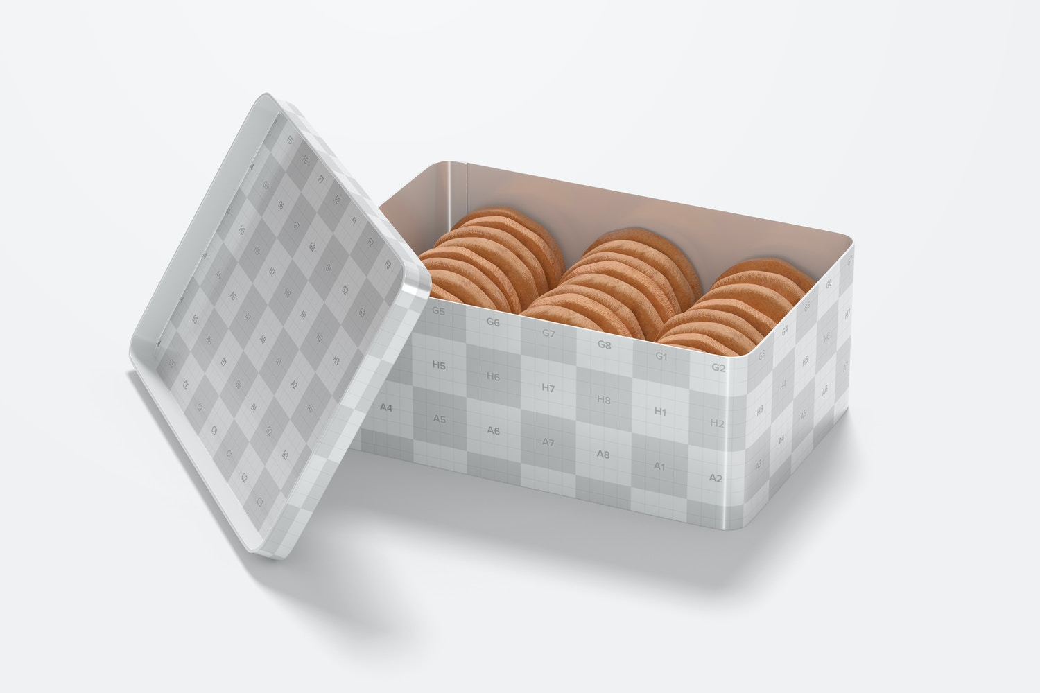 You can place your logo on the inside of the lid.