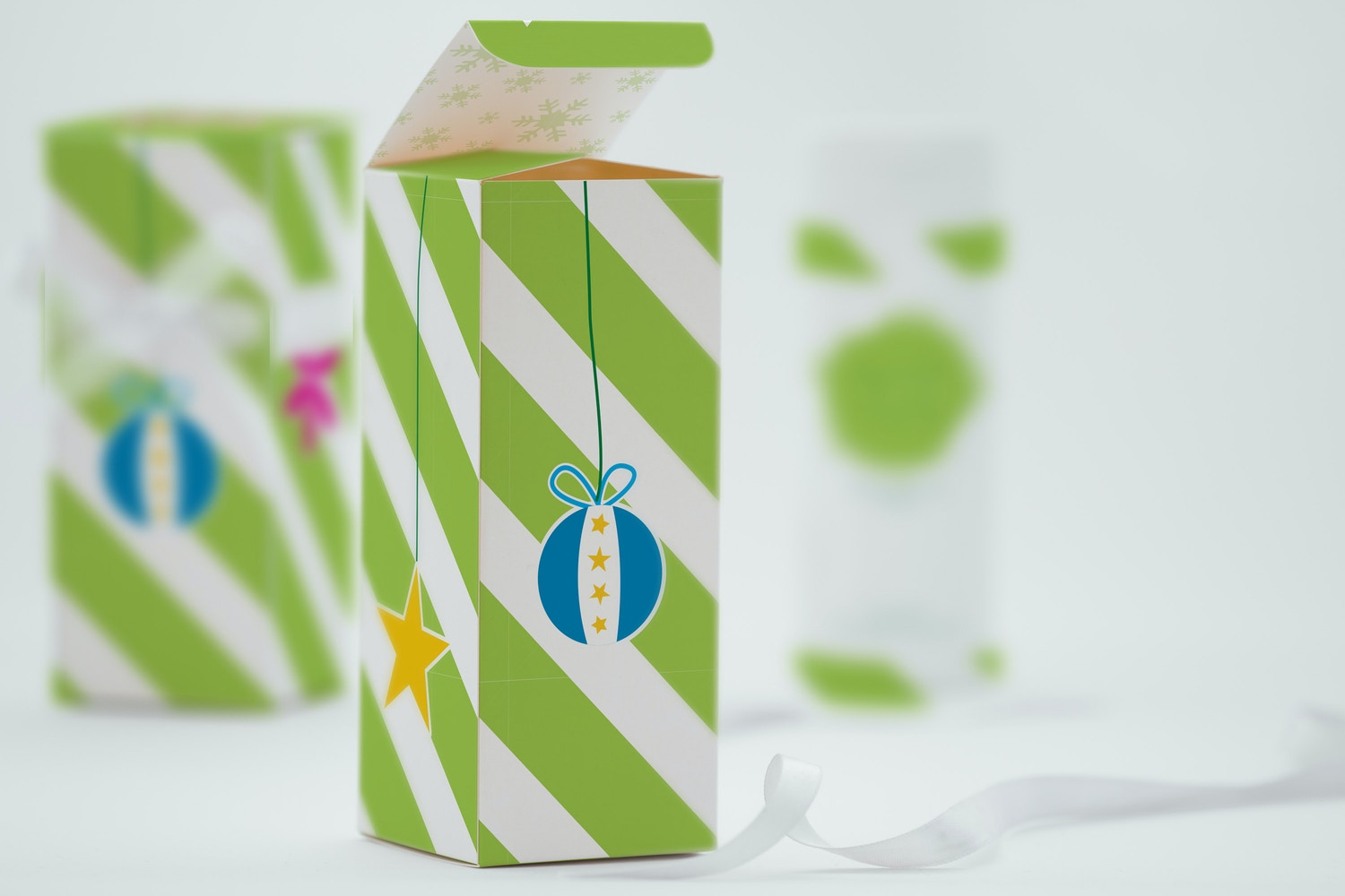 Tall Gift Box Mockup 03 by Ktyellow  on Original Mockups
