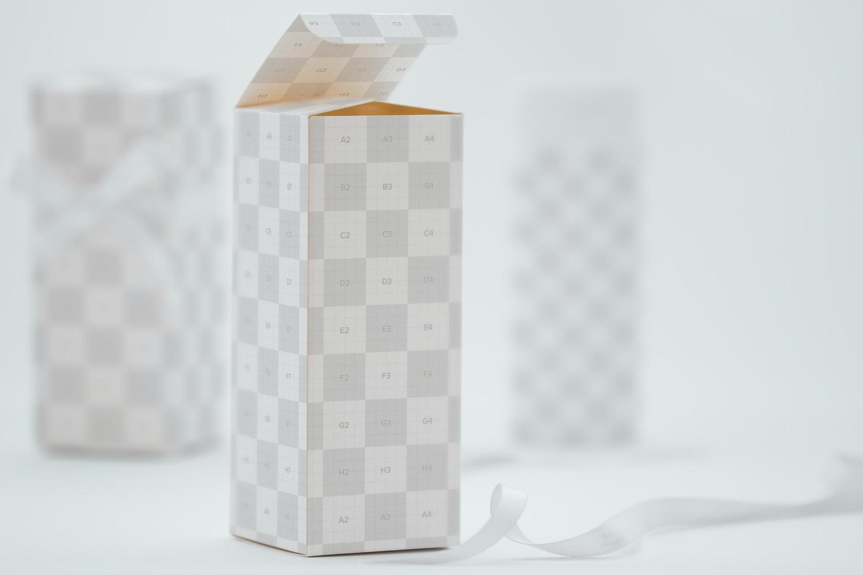 Tall Gift Box Mockup 03 by Ktyellow  on Original Mockups