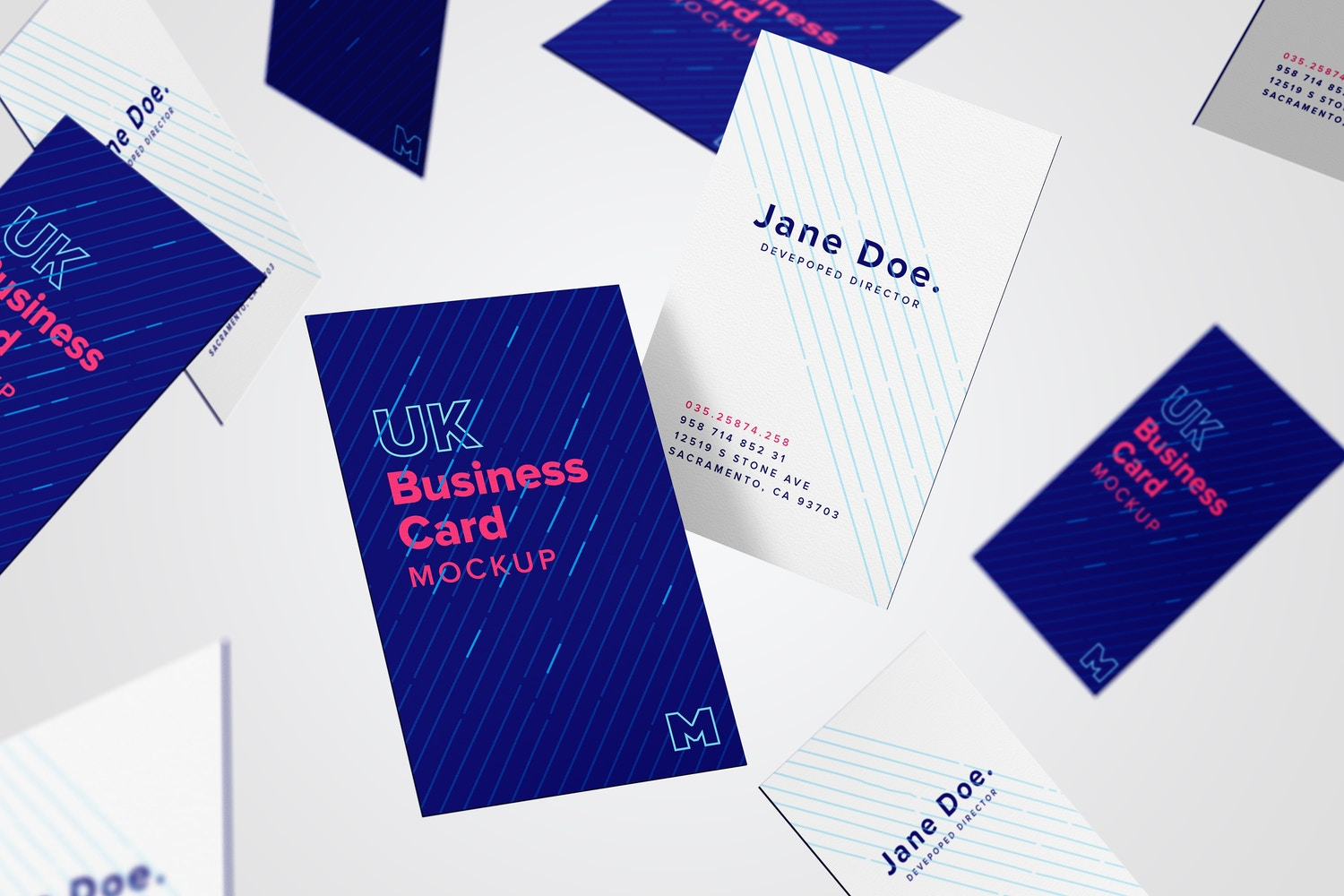 UK Business Card Mockup 05 by Original Mockups on Original Mockups