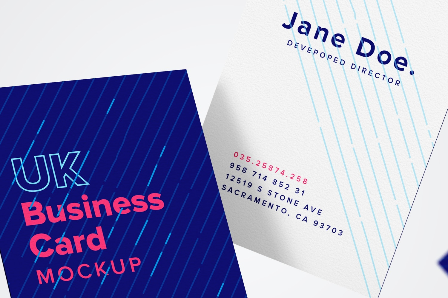 UK Business Card Mockup 05
